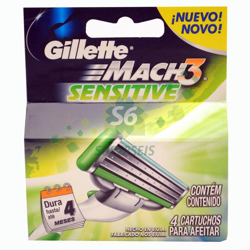 Foto REPUESTO GILLETTE MACH 3X4 SENSITIVE de