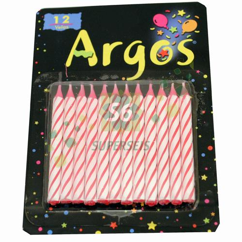 Foto VELAS ARGOS CUMPLE CLAS DISPLAY X12 de