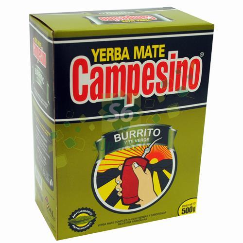 Foto YERBA MATE CAMPESINO BURRITO Y TE VERDE DE 500 GR de