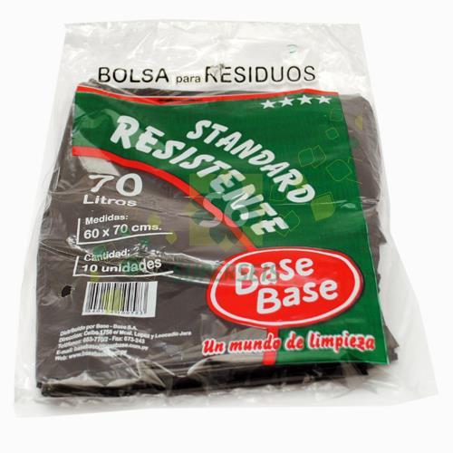 Foto BOLSA PARA RESIDUOS BASE BASE STANDARD RESISTENTE 70 LITROS 10 UNIDADES de