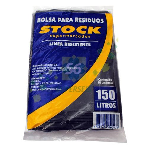 Foto BOLSA PARA RESIDUO STOCK RESISTENTE 150LT de