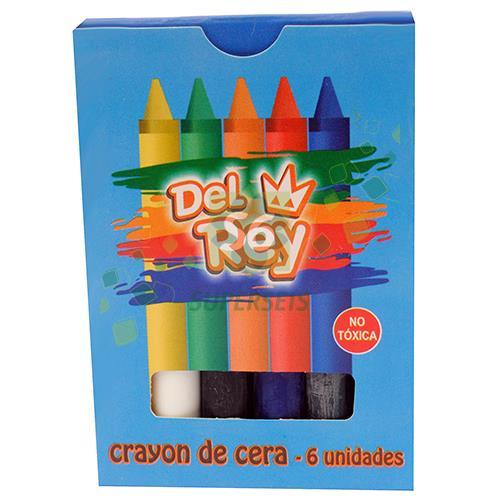 Foto CRAYONES DE CERA X 6 COLORES DEL REY CAJA de