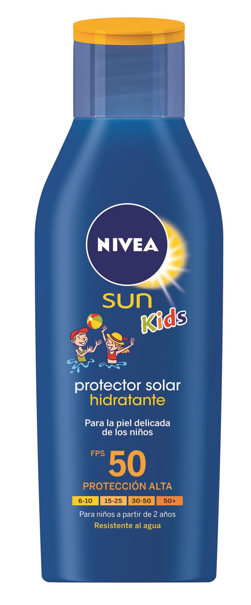 PROTECTOR SOLAR HIDRATANTE 200ML FPS 50 NIVEA SUN KIDS FRASCO