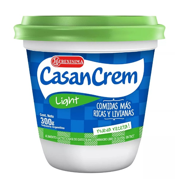 QUESO CREMOSO LIGHT 300GR CASANCREM POT