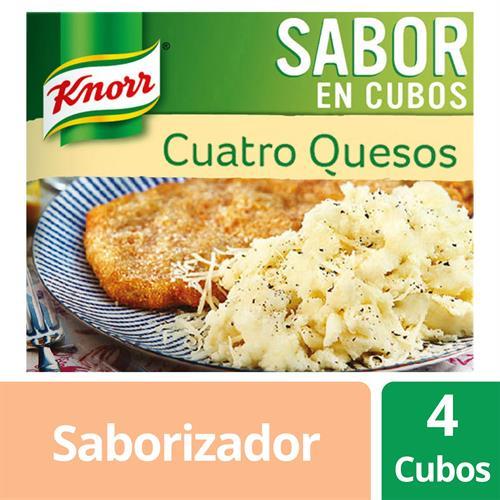 Foto CALDOS CUATRO QUESO CUBOS 38 GR KNORR CAJA  de