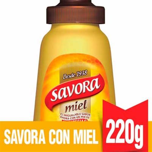 Foto MOSTAZA CON MIEL 220GR SAVORA FRASCO  de