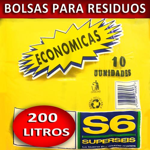Foto BOLSA SUPERSEIS PARA RESIDUO ECON.200 LT de