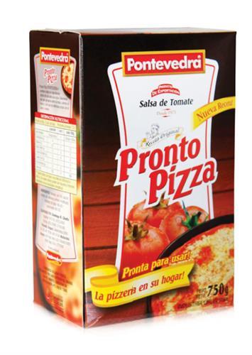 Foto SALSA DE TOMATE PRONTO PIZZA 750GR PONTEVEDRA CAJA  de