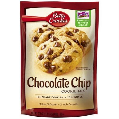 Foto MEZCLA COOKIE MIX CHOCOLATE CHIP ERP 496 GR BETTY CROCKER PLAS de
