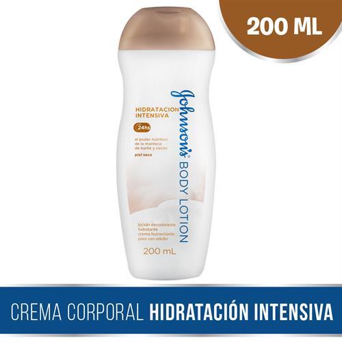 Foto CREMA CORPORAL NUTRICION INTENSA CON MANTECA Y CACAO 200ML JOHNSONS PLAS de