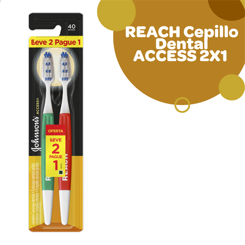 Foto CEPILLO DENTAL REACH ACCESS LLEVE 2 PAGUE 1 MEDIO de