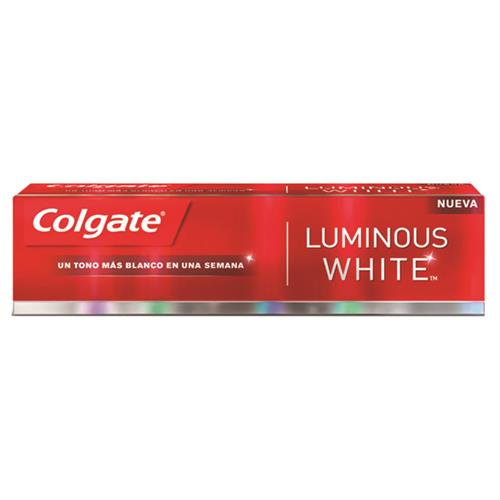 Foto CREMA DENTAL CON FLUOR LUMINOUS WHITE 180GR COLGATE CAJA  de