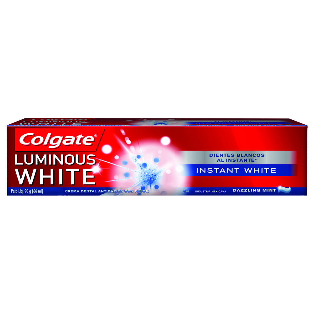 CREMA DENTAL LUMINOUS WHITE INSTANTANEO 90GR COLGATE CAJA
