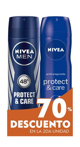 Foto DESODORANTE MEN PROTECT CARE /DEO PROTECT CARE 150ML NIVEA EL 2DO 70PORC DESC.PACK de