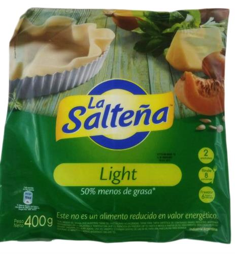 Foto TAPA PARA PASCUALINA LIGHT 400GR LA SALTEÑA PAQUETE  de
