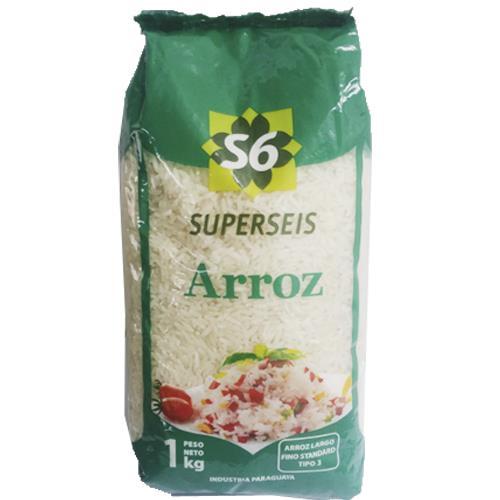 """Foto ARROZ """"SUPERSEIS"""" TIPO 3 STAND L.FIN 1KG de"""