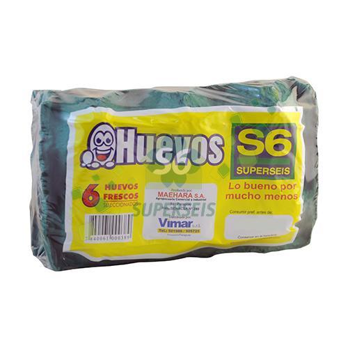 Foto HUEVOS SUPERSEIS ENVASE ECONOMICO CARTON 6 UNIDADES  de