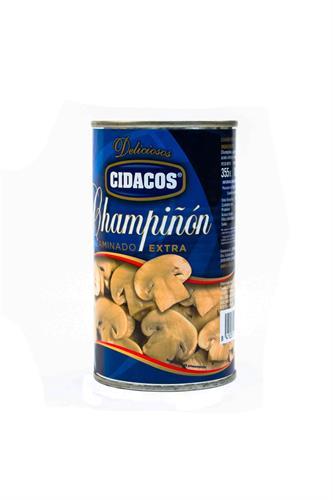 Foto CHAMPIGNON LAMINADO CIDACOS EXTRA EN CONSERVA LATA 355GR de