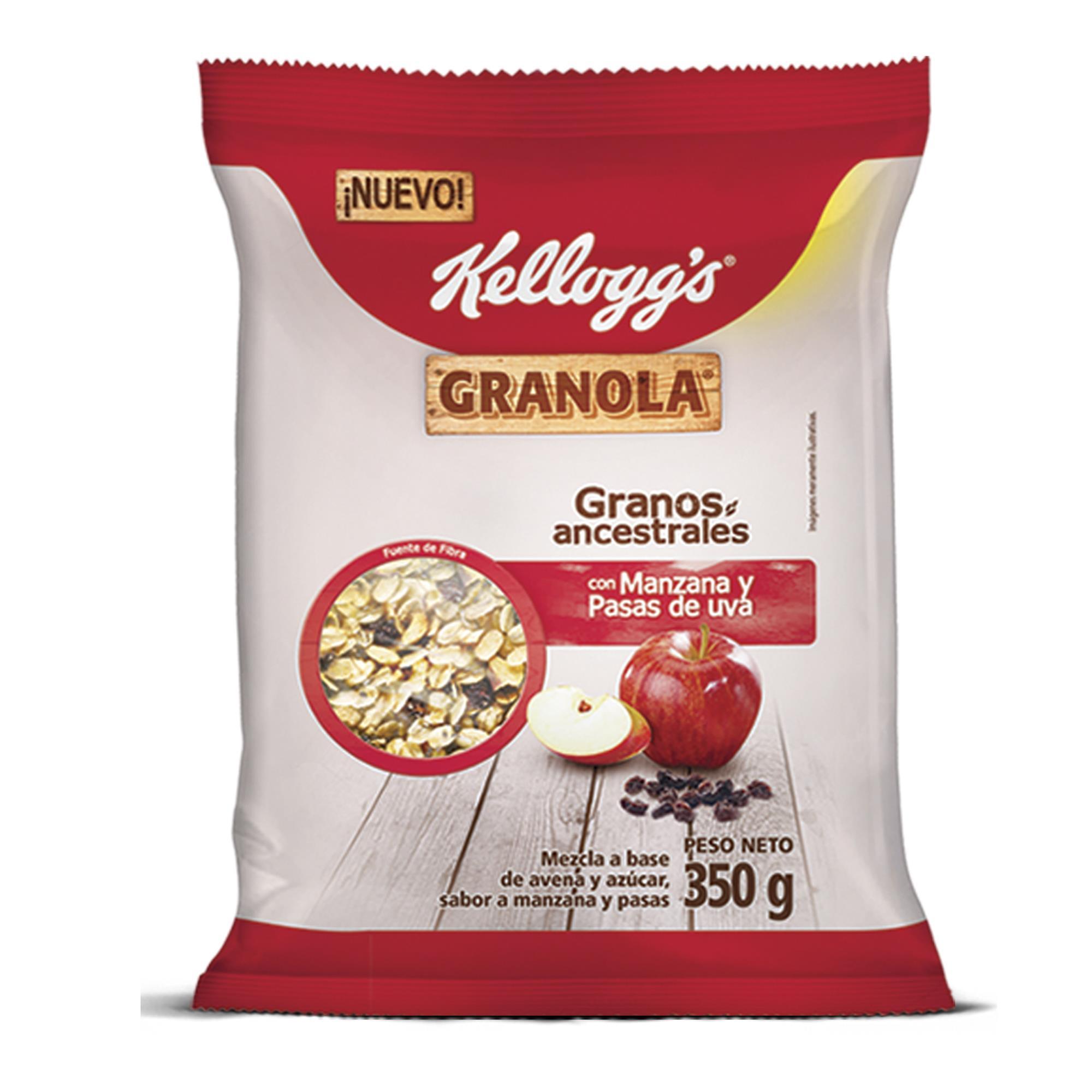 GRANOLA CON MANZANA Y PASAS DE UVA 350 GR KELLOGGS BSA