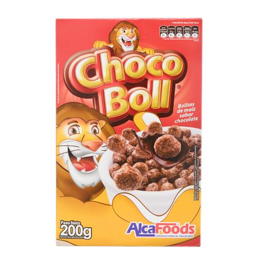 CEREAL ALCAFOODS CHOCO BOLL SABOR CHOCOLATE 200GR CJA