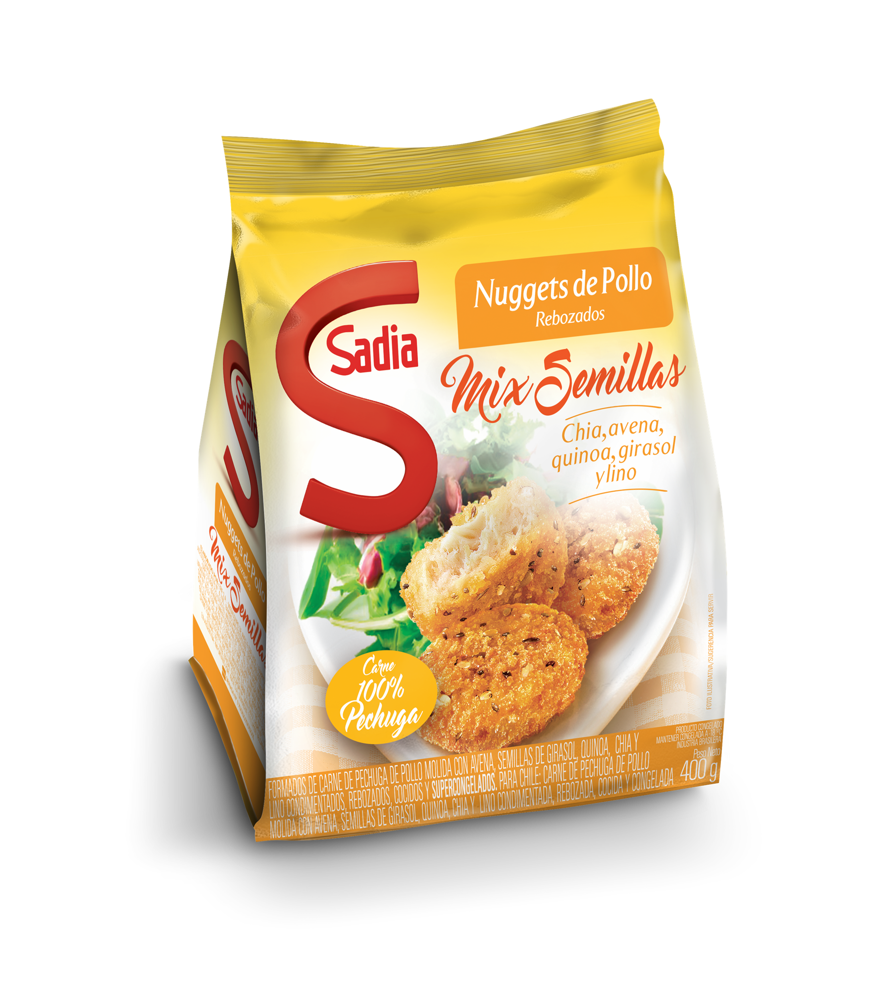NUGGETS DE POLLO MIX DE SEMILLAS DE 400GR SADIA BSA
