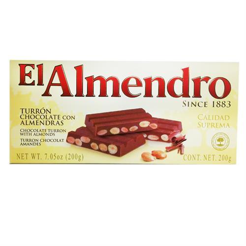 Foto TURRON DE CHOCOLATE CON ALMENDRAS X 200 GR EL ALMENDRO CJA de