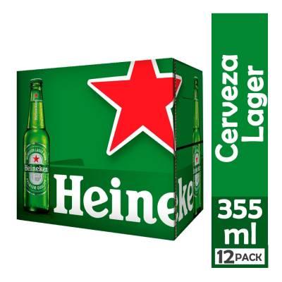 CERVEZA LAGER 12 UNIDADES X 650 ML HEINEKEN CAJA