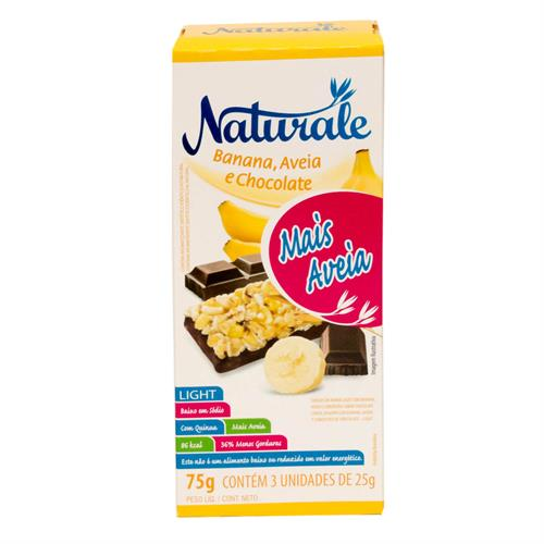 Foto BARRA CEREAL LIGHT BANANA/AVENA Y CHOCOLATE 25GRX3UN NATURALE CAJA de