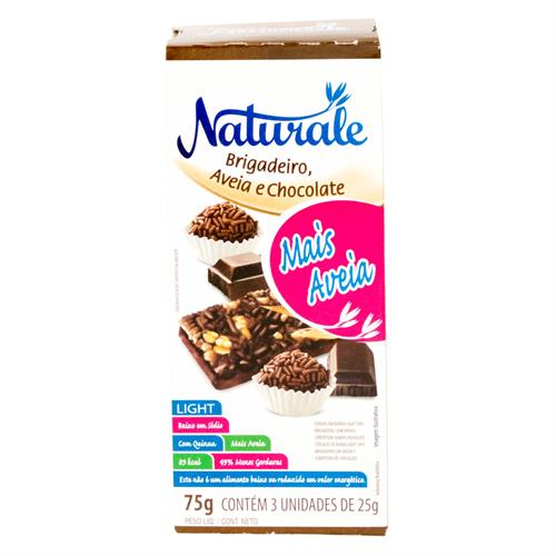 Foto BARRA CEREAL LIGHT BRIGADEIRO/AVENA Y CHOCOLATE 25GRX3UN NATURALE CAJA de