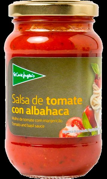 SALSA DE TOMATE CON ALBAHACA 260GR EL CORTE INGLES FCO