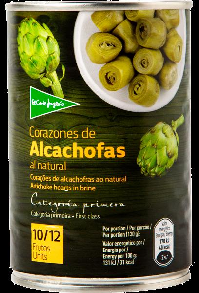 ALCACHOFAS 10/12 390GR EL CORTE INGLES LATA