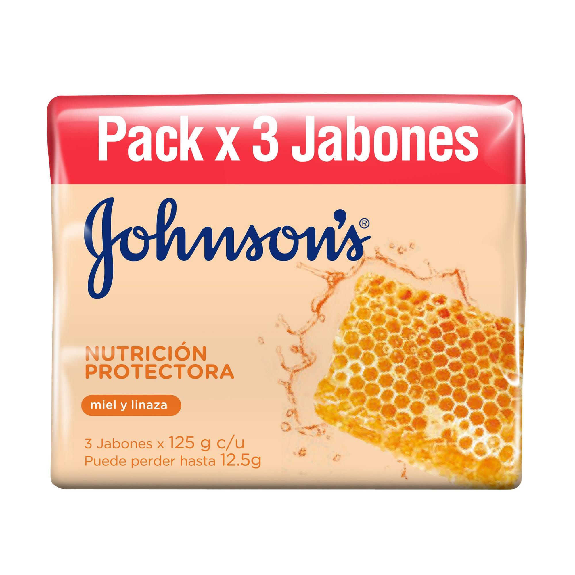JABON NUTR PROT JOHNSONS 3UN 125GR PACK