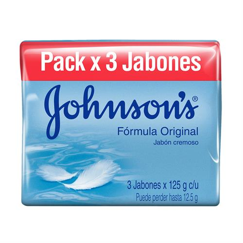 Foto JABON DE TOCADOR ORIGINAL 3X125GR JOHNSONS PACK de