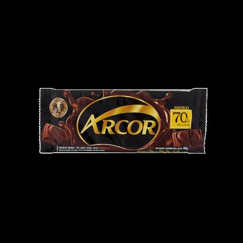 Foto CHOCOLATE TAB AMARGO 70 ARCOR 100GR PLAST de