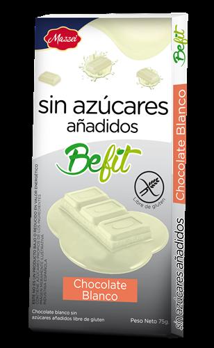 Foto CHOCOLATE TABL BLANCO S/AZUCAR AÑADIDOS BEFIT 75GR de