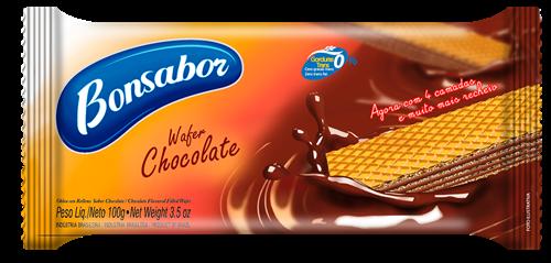 Foto  GALLETITA WAFER SABOR CHOCOLATE 100 GR BONSABOR PLA de