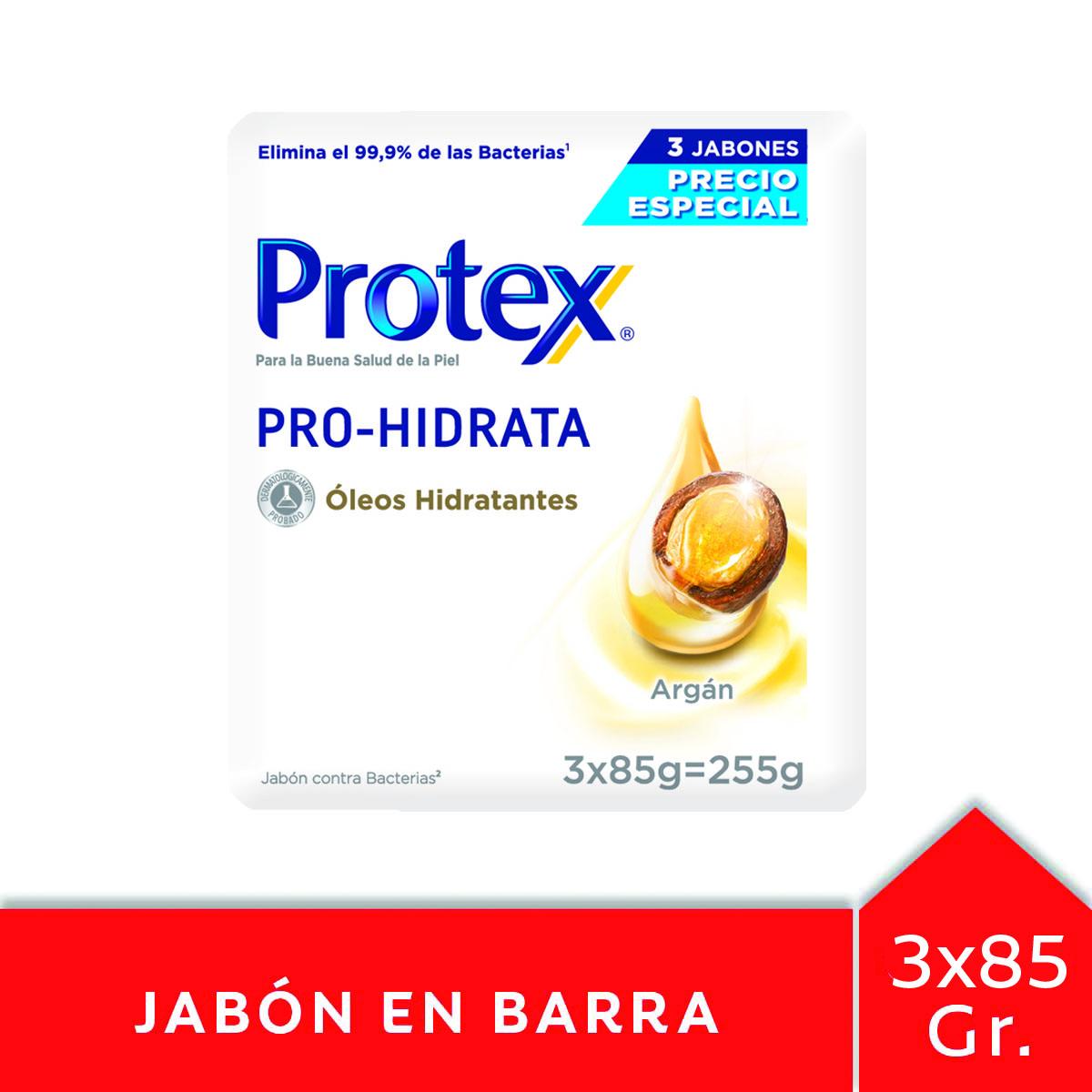 JABON TOC PRO HIDRATA ARGAN PROTEX 85GR 3UN PACK