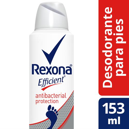 Foto DESODORANTE P/PIES ANTIBAC EFFICIENT AER 153ML REXONA de