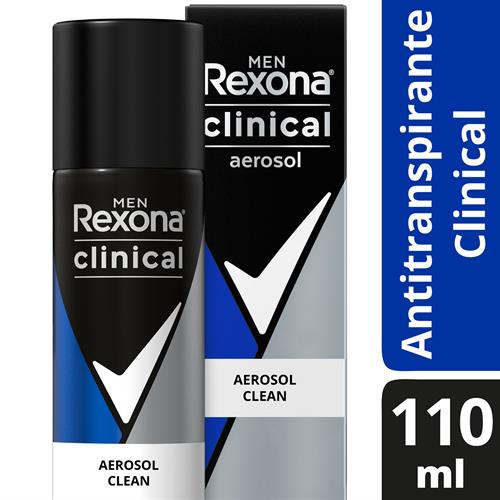 Foto DESODORANTE CLINICAL MEN 3X CLEAN AER 110ML REXONA CJA de