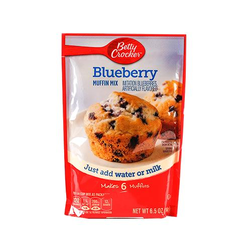 Foto MEZCLA MUFFIN MIX BLUEBERRY 184 GR BETTY CROCKER CAJA  de