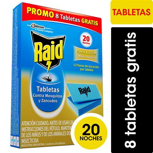 Foto TABLETAS CONTRA MOSQUITOS 12UN /8UN GRATIS RAID CJA  de