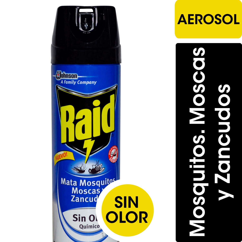 INSECTICIDA SIN OLOR MATA MOSCA/MOSQUITO Y ZANCUDOS 360CM RAID AEROSOL