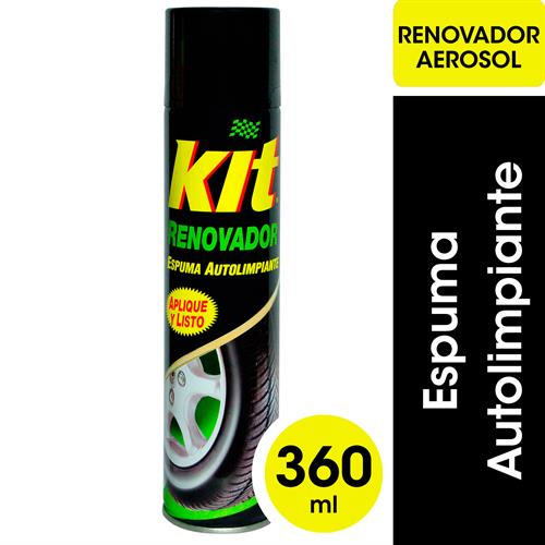 Foto RENOVADOR KIT LIMPIA NEUMATICOS AEROSOL 480 CC de
