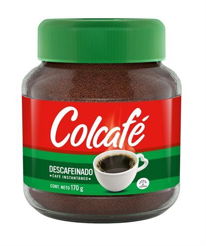 Foto CAFE SOLUBLE DESCAFEINADO 85GR COLCAFE FCO de