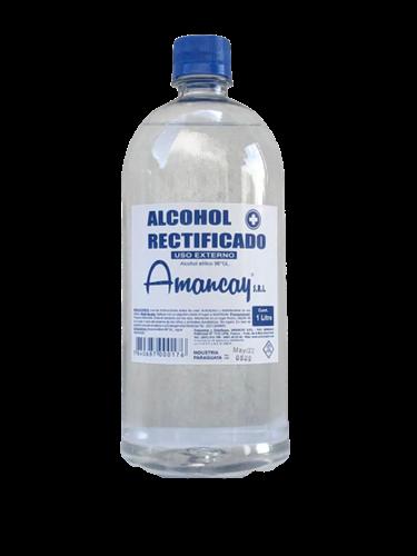 Foto ALCOHOL RECTIFICADO AMANCAY BOTELLA 1 LITRO de