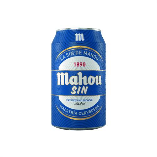 Foto CERVEZA SIN ALCOHOL 330ML MAHOU LATA de