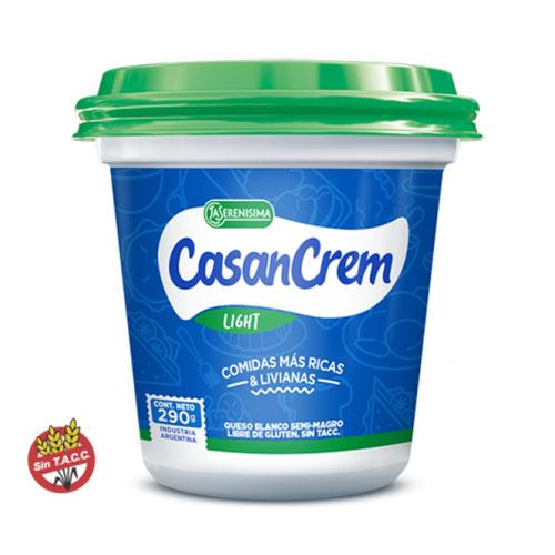 Foto QUESO CREMA CASANCREM LIGHT LA SERENISIMA 290GR POT de