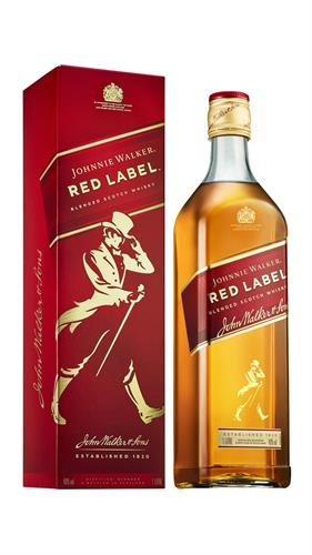 Foto WHISKY JOHNNIE WALKER RED LABEL CON CAJA BOTELLA 1 LITRO de