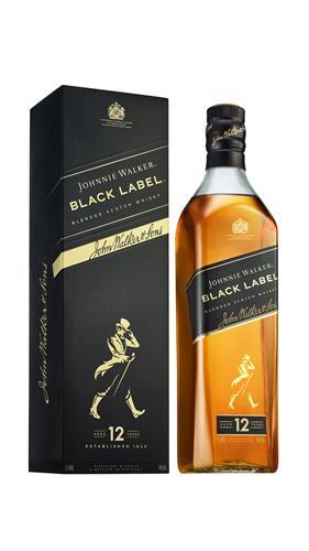 Foto WHISKY JOHNNIE WALKER BLACK LABEL BOTELLA 1 LITRO de