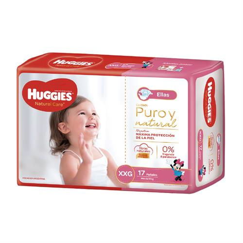 Foto PAÑAL P/ELLA NATURAL CARE MEGA PACK XXG 17UN HUGGIES PAQ de